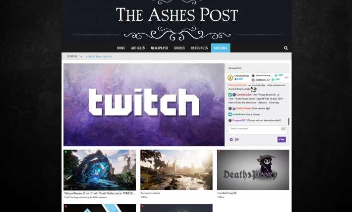 Ashes Post Stream Platform