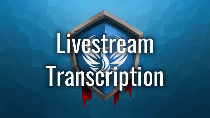Livestream Transcription