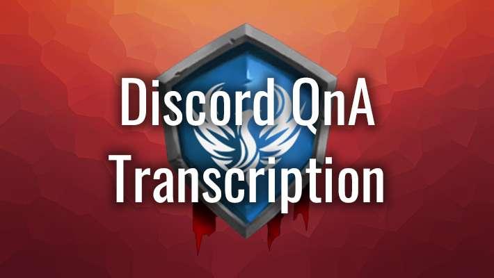 Discord QnA Transcript